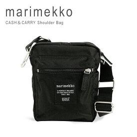 マリメッコ ショルダーバッグ キャッシュ&キャリー marimekko Roadie Cash&Carry 026992 ブラック【送料無料】