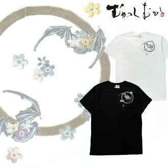 Pine was properly worn by famous brand ☆ once upon a time ☆ Japanese pattern t-shirt ☆ Maru probably bat ☆ Black / Black