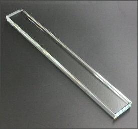 クリスタル文鎮 ペーパーウエイト 角型 485g 4×1.5×33cm