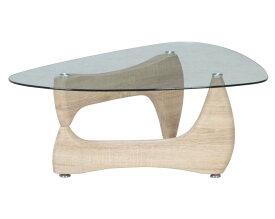 イサムノグチ風  ガラスセンターテーブル ルーク ホワイトオーク 96141 送料無料