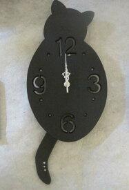 猫のしっぽ振り シェードクロック 黒猫 CL-78BK 送料無料 【北海道・沖縄・離島 発送不可】