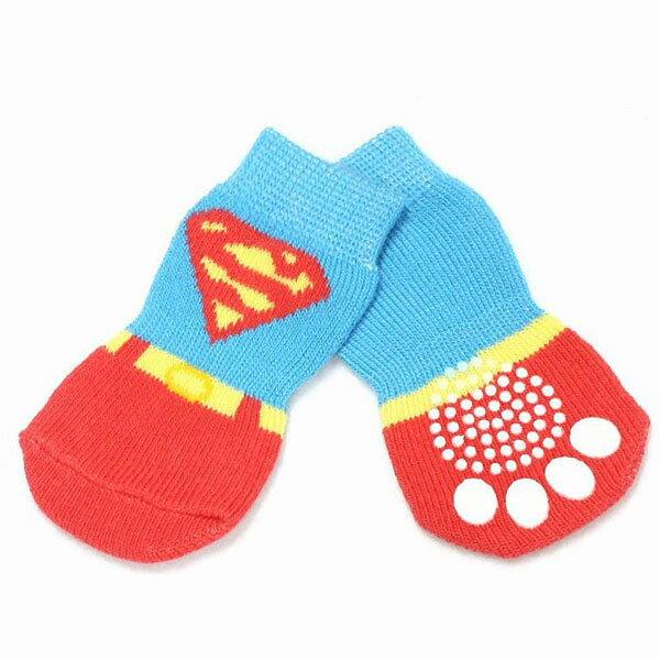 【ゆうパケット送料無料】HUGGY BUDDY'S(ハギーバディーズ) スーパーソックス (犬用靴下 1足分4個セット)
