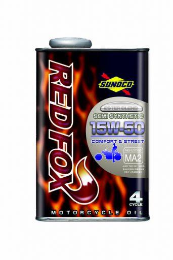 SUNOCO REDFOX COMFORT & STREET 4サイクル オイル 【15W-50 20L×1缶】 スノコ 2輪 バイク レッドフォックス コムフォート アンド ストリート 部分合成油 レーシングスペック エンジンオイル 15W50