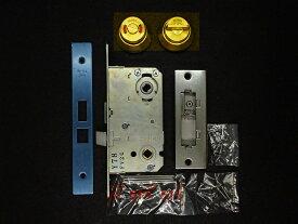 MIWA 美和ロック 木製ドア用 レバーハンドル錠ケースセット WLA-8 表示錠 B/S51mm ゴールド GD【即日出荷】【店渡可能】