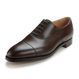 【Crockett and Jones】CONNAUGHT ワイズE クロケット&ジョーンズ 「コノート」オックスフォードシューズ ダークブラウン 茶 ストレートチップイギリス製 革靴 UKサイズ5〜13(日本サイズ23.5cm〜31.5cm)