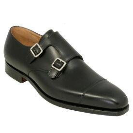 【Crockett and Jones】 Lowndes ワイズE クロケット&ジョーンズ モンクシューズ「ロウンズ」ブラックカーフ 黒イギリス製 革靴 UKサイズ5〜13(日本サイズ23.5cm〜31.5cm)