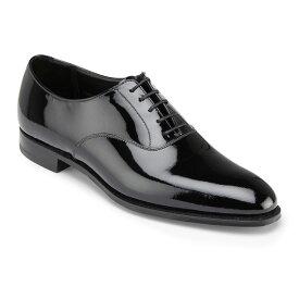 【Crockett and Jones】 OvertonワイズE クロケット&ジョーンズ「オーバートン」ブラックパテント 黒イギリス製 革靴 UKサイズ5〜13(日本サイズ23.5cm〜31.5cm)