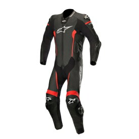 ☆【Alpinestars】アルパインスターズ レーシングスーツ Missile 1 Piece Leather Motorcycle Suit - Tech Air Bag Compatible Black / Red