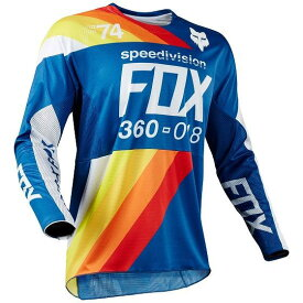 ☆【Fox】クロージング360 DRAFTRモトクロスジャージー - ブルー