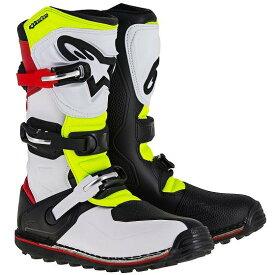 ☆【Alpinestars】Tech-Tトライアル/オフロードブーツ - ホワイト/レッド/フルロイエロー/ブラック