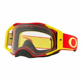 ☆【Oakley】エアブレーキMXゴーグル Red and Yellow Frame/Clear Lens
