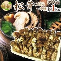 """中国産""""松茸""""約1kg訳あり開き方・大きさおまかせ"""