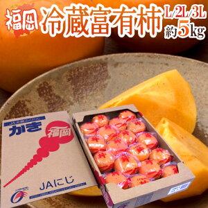 """【送料無料】福岡産 """"富有柿"""" 秀品 L〜3L 約5kg【予約 12月以降】"""