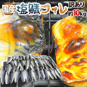 """【送料無料】国産 """"塩鯖フィレ"""" 訳あり 約10kg 大きさおまかせ 三枚おろし サバ"""