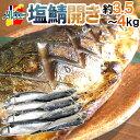 """【送料無料】ノルウェー """"塩鯖開き"""" 8〜10尾前後 約3.5〜4kg 背開き 塩サバ"""