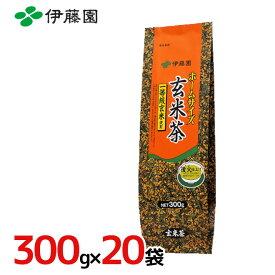 """伊藤園 """"ホームサイズ 玄米茶"""" 300g×20袋(1ケース)"""