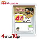 """ニッポンハム """"レストラン仕様カレー"""" 中辛 4袋入×10pc(1ケース)"""