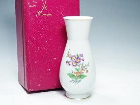 【中古】 マイセン ベーシックフラワー 2つ花 花瓶 インテリア 置物 フラワーベース 花器