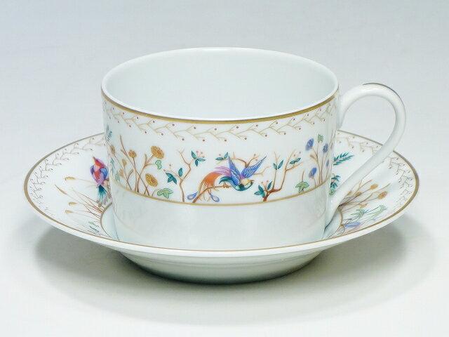 【ティファニー オーデュボン カップ&ソーサー】(Tiffany&Limoges France リモージュ フランス C&S C/S ティー 紅茶)【中古】