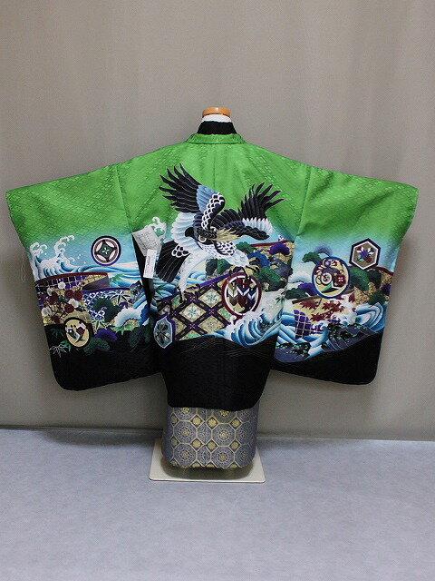 七五三・五歳用男児の着物と袴セット Lサイズ D4458-03