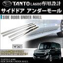 タント タントカスタム LA600 サイドドア メッキ アンダーモール 4P ステンレス製 外装 パーツ