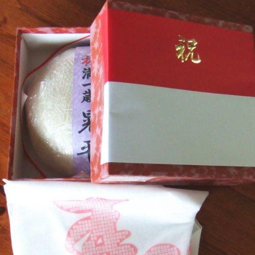 【送料無料】(沖縄・離島を除く)一升餅(一生餅・誕生餅)・新潟県産こがねもち使用・紙帯に名入れ・風呂敷付・脱酸素剤包装で出荷