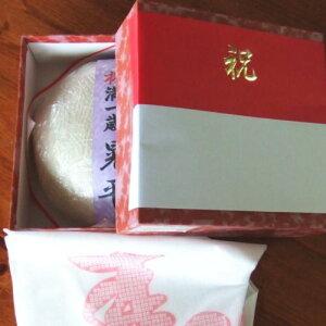 【送料無料】(沖縄・離島を除く)一升餅(一生餅・誕生餅)・令和元年新潟県産こがねもち使用・紙帯に名入れ・風呂敷付・脱酸素剤包装で出荷