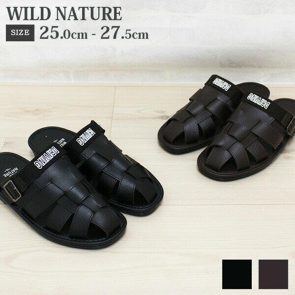 サンダル メンズ ドライビング 靴 WILD NATURE YU-WN901
