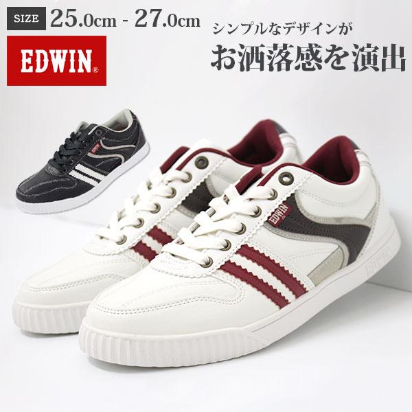 スニーカー ローカット メンズ 靴 EDWIN ED-7026 エドウィン