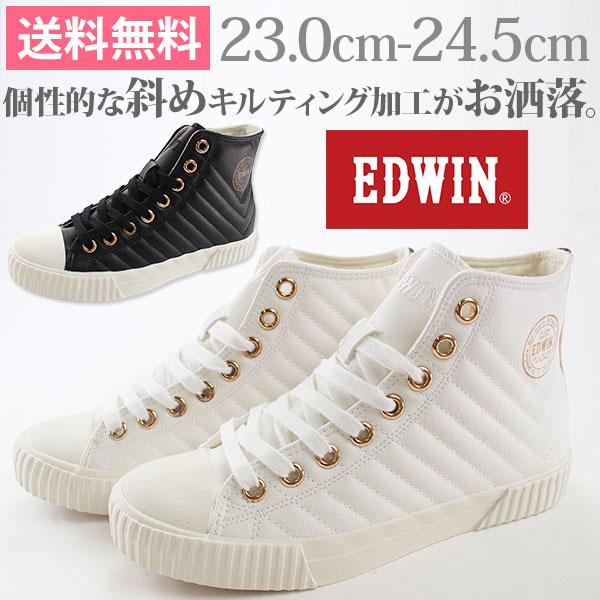 エドウィン スニーカー ハイカット レディース 靴 EDWIN ED-402 tok