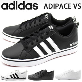 【サマーセール 8/11 1:59まで】 アディダス スニーカー メンズ 靴 黒 白 ブラック ホワイト アディペース シンプル 軽量 軽い adidas ADIPACE VS