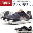 スニーカー メンズ 靴 スリッポン ネイビー ブラック デニム 軽量 軽い 幅広 ワイズ 3E 2way エドウィン EDWIN EDW-7535