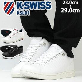 【スプリングセール 3/11 1:59まで】 ケースイス スニーカー メンズ レディース 靴 白 ホワイト トリコ 合皮 ブランド シンプル 正規品 K-SWISS KSL01