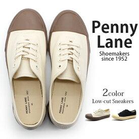 スニーカー レディース 靴 キャンバス 白 黒 アイボリー ブラック 疲れない PENNY LANE 3160