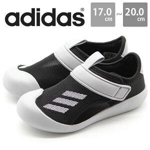 アディダス キッズ ジュニア 子供 靴 サンダル ウォーターシューズ 面ファスナー 黒 adidas ALTAVENTURE CT C FY8927
