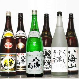 八海山 6種 飲み比べセット(八海山日本酒 5種・焼酎1種)1800mlx6本セット