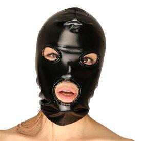 エナメル(PVC)2ウェイマスク【DM便OK】la-ls067【目・口開き】【フルフェイスマスク】【ボンデージ】【la pomme】【チェリーラブ】