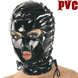 【skinfit】leda1520☆大きさ調節できる編みあげPVCマスク【送料無料】