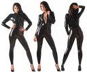 【skinfit】wwr1056-男女兼用☆ラバーキャットスーツ【送料無料】【大きいサイズ取り寄せできます】【honour】