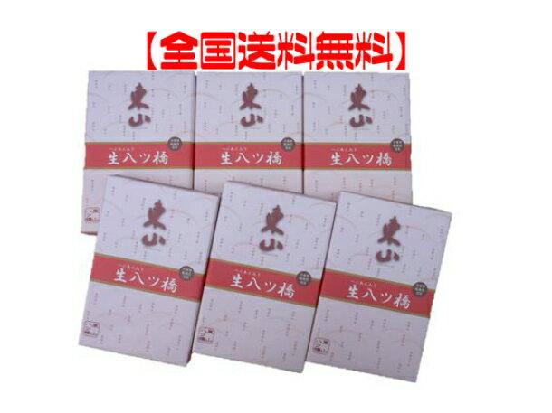 【全国送料無料】つぶあん入り生八ツ橋(ニッキ・抹茶詰合せ)10枚入り×6箱