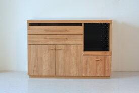 【シンプルライン】TOMオクタ 120カウンター キッチンカウンター レンジ台 ステンレストップ シンプルナチュラル家具