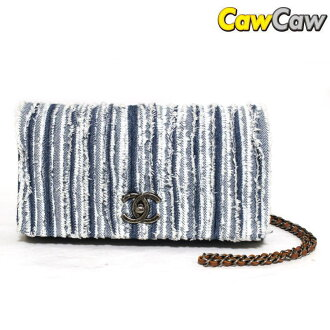 Chanel A92799 denim chain shoulder bag W flap CHANEL
