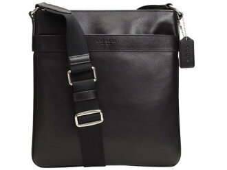 COACH / trainer men's shoulder bag black F54780 Crossbody leather capdase