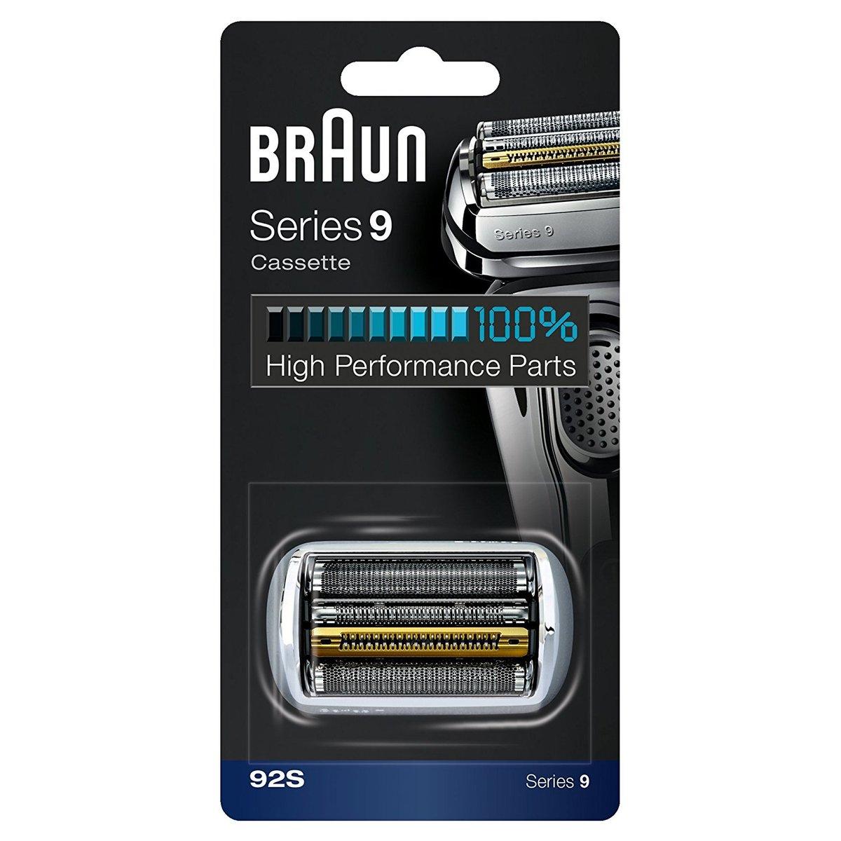 【1/5 出荷予定】【送料無料】BRAUN ブラウン シリーズ9/替刃 網刃・内刃一体型カセット 92S/92B (F/C92Sの海外版 F/C90Sの改良版) 並行輸入品
