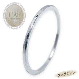 リング ピンキーリング タングステン 極細リング 金属アレルギー対応 ダイヤモンドカット 菱形 レディース リング シンプル ピンキー 指輪 シルバー ステンレス サージカルステンレス 3号から 細い 華奢 ユニセックス つけっぱなし