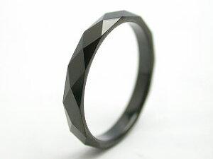 リング タングステン 指輪 レーザー刻印 金属アレルギー対応 ダイヤモンドカット 菱形 幅3mm/幅4mm ピンキーリング 黒 ブラック 名入れ ステンレス メンズ レディース リング シンプル ピンキ