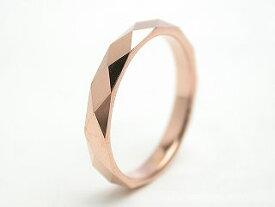 リング 指輪 タングステン 刻印 名入れ 金属アレルギー対応 ピンク ローズゴールド ダイヤモンドカット 菱形 幅3mm/幅4mm ピンキーリング 3号から ピンキー ファランジリング ユニセックス メンズ レディース 男性 女性 カップル プレゼント ギフト