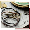 [ Pair bracelet ] Grand fuck bracelets made by knitted leather & antique brass. / accessories / leather / couple / pair / pair look / present /jewelry/