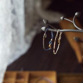 刻印無料 ペア アンクレット モールス信号で秘密の暗号 ビーズに想いを託した ワックスコード アンクレット イニシャル彫刻 Lauss PairAnklet conpact