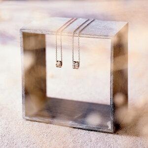 刻印無料 ペア ネックレス 小さめサイズにこだわった サークル・ライト ペアネックレス サージカル ステンレス 刻印 アレルギーフリー Lauss PairNecklace (長方形パッケージ)conpact